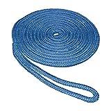 SeaSense - Línea de Acoplamiento de Nailon Doble Trenza, 5/8' X 20', Azul (50013085)