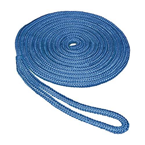 "SeaSense 3/8"" x 15' Double Braid Nylon Dockline, Blue"