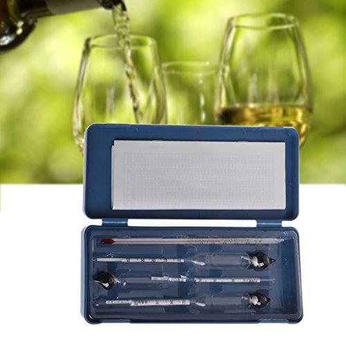 Alkoholtester, 3-teiliges Set 0-100{ffc837907722b8e19ba8860c1152804096c67d9d5e56b9819d4f48855a4ad774} Hydrometer, Alkoholmeter, Alkoholmessgerät + Thermometer, Hydrometer, für Wein Alkohol