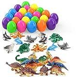 Theefun Uova di Pasqua, 24 Pezzi Uova Plastica da Riempire, Uova di Pasqua Pasqua Addobbi Sorpresa Giocattoli, Ideali per Bambini, spettacoli, scuole