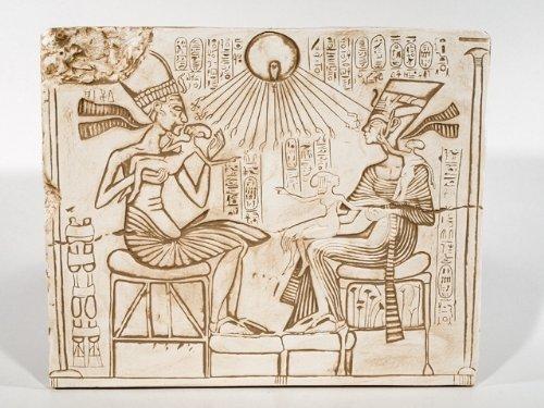 égyptien Murals Akhénaton avec Néfertiti Armana