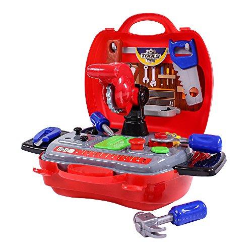moleo- Dream Box 3 Set da Gioco per Bambini, Colore Cassetta degli Attrezzi (Rosso), M00009520