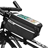 HJKL Bolsa de teléfono móvil Bolsa de Bicicleta Pantalla táctil Bolsa de teléfono móvil Bolsa de Tubo de Coche Tubo Bicicleta Equipo de equitación Equipo de Bicicleta de montaña,Black