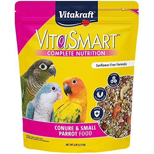 Vitakraft Vitasmart Conure & Small Parrot Food, High Variety Formula - 4Lbs