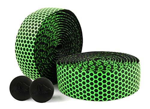 MARQUE Hex Bicycle Handlebar Tape - Road Bike Handle bar Tape 2PCS per Set (Green)