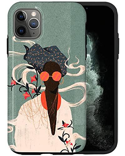 JUSPHY - Funda para teléfono compatible con iPhone 12 Pro, gafas de sol para mujer en humo PIN670