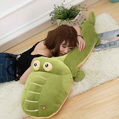 Cute Crocodile Plush Toy Doll, Filled with a Lot of Down Pillows, Children's Holiday Birthday Gifts 85CM Green