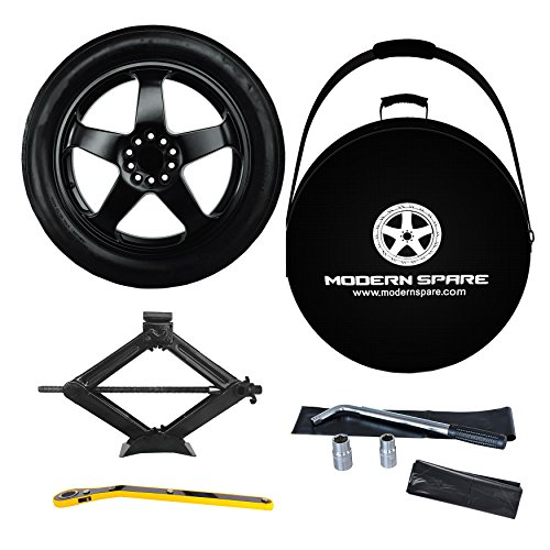 Complete Compact Spare Tire kit w/ Carrying Case -Fits 2015-2019 Cadillac CTS All Trims w/ Spacer Options For CTS-V - Modern Spare