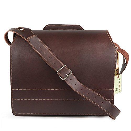 Große Aktentasche Lehrertasche Größe XL aus Leder, für Damen und Herren, Braun, Jahn-Tasche 676