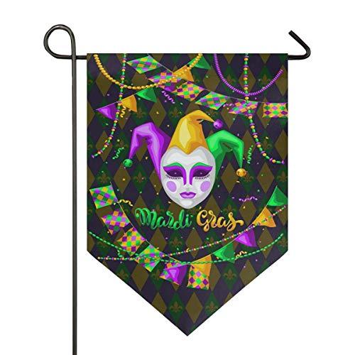 jenny-shop Cuentas de máscara de Carnaval Zigzag Fleur De lis Garden Flag Doble Cara 12.5 x 18 Pulgadas