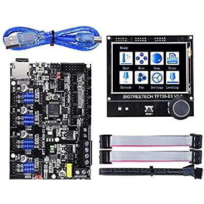 BIGTREETECH SKR Mini E3 V1.2 Control Board 32Bit with TFT35 E3 V3.0 Graphic Smart Display Controller Board for Creality Ender 3