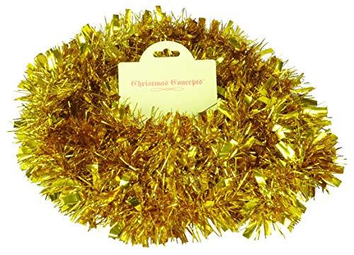 Christmas Concepts® 2 Meter Chunky/Fine Weihnachten Tinsel - Weihnachtsdekoration - hochwertige Tinsel (Gold)