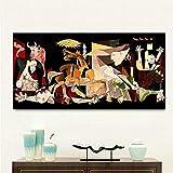 PQGHJ Picasso Rompecabezas Rompecabezas Adultos Guernica Vintage Clásico Figura 1000 Piezas Rompecabezas Niño Adulto Navidad Desafiantes Juguetes Divertidos Decoraciones navideñas
