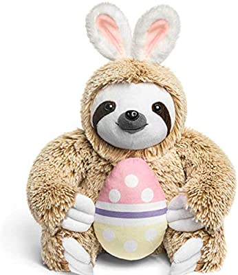 """Easter Bunny Stuffed Animal - Easter Stuffed Animals Sloth Bunny - Large Fluffy Stuffed Easter Bunny Sloth With Easter Egg - 15"""" from"""