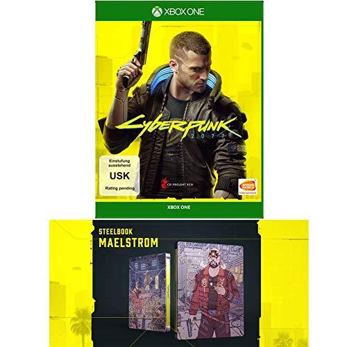 CYBERPUNK 2077 - DAY 1 Standard Edition - [Xbox One] + Cyberpunk 2077 - Steelbook Maelstrom
