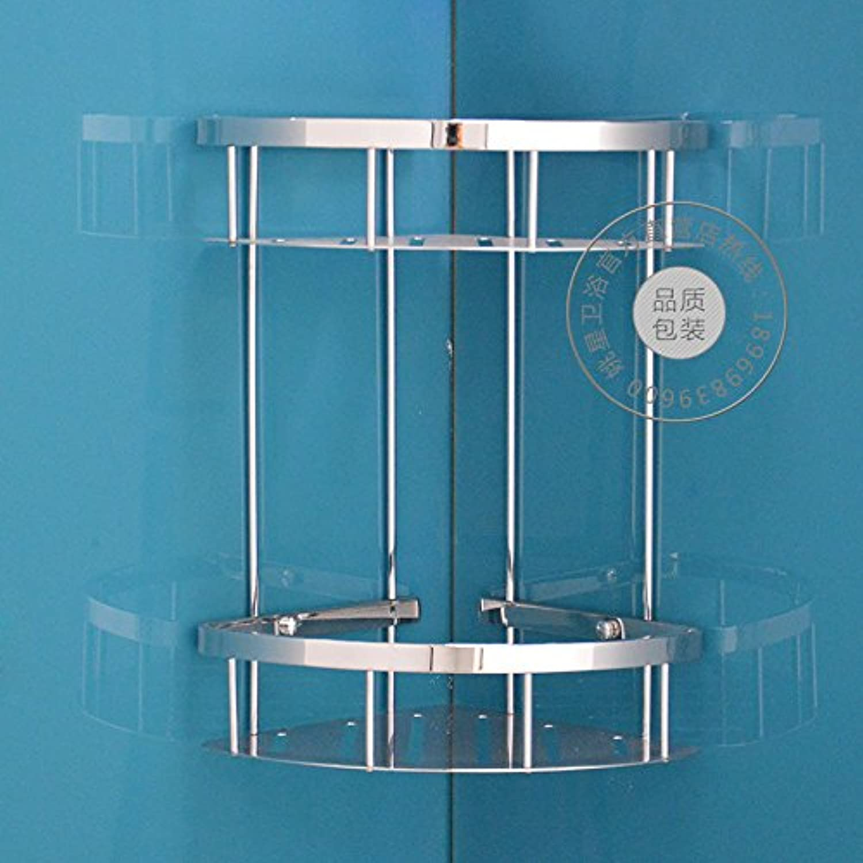 304 basket stainless steel double-layer triangular shelves corner steel bathroom racks racks tripod