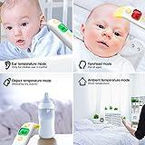 Cocobear termómetro infrarrojo para la fiebre, termómetro para la frente, el oído, el espacio y el objeto, termómetro digital para niños, adultos y ancianos (B)