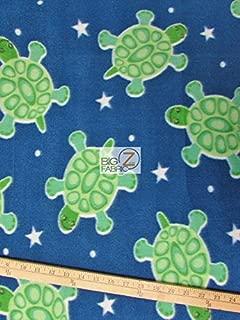 Best turtle print fleece fabric Reviews