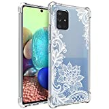 Osophter for Galaxy A71 5G Case[Not for Verizon A71 5G UW] for Girls Women Shock-Absorption Flexible TPU Rubber Cell Phone Cases Cover for Samsung Galaxy A71 5G(White Lace)