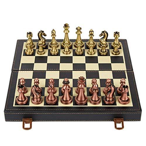 Ajedrez para tablero harry potter juegos Juego de ajedrez Metal International Ajedrez Conjunto de placa de ajedrez de madera / PU, conjunto de ajedrez de piezas estándar clásicas para niños adultos re