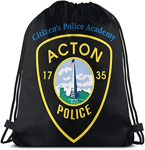 Acton 1735 Police Drawstring Backpack Rucksack Shoulder Bags Gym Bag