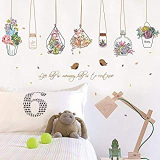 Home Decor PVC DIY for Kids Room Sticker Cartoon Flower Pot Basket Wall Stickers Dormitory Decoration Stickers Baby Bedroo...