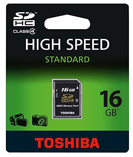 Toshiba Scheda di Memoria SD High-Speed, 16 GB, Nero