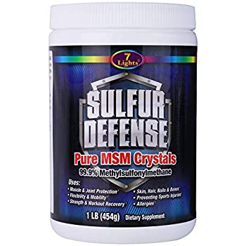 7 Lights Sulfur Defense MSM Powder Pure 99.9% Methylsulfonylmethane Crystals 1 Pound