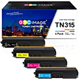 GPC Image Compatible Toner Cartridge Replacement for Brother TN315 TN-315 TN315BK TN310 to use with HL-4150CDN MFC-9460CDN MFC-9970CDW HL-4570CDW MFC-9560CDW (1 Black, 1 Cyan, 1 Magenta, 1 Yellow)