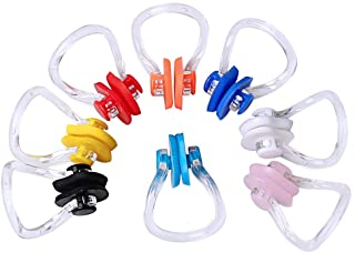 Wode Shop 8 Pieces Silicone Swimming Nose Clip,...