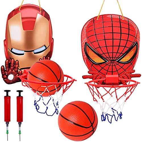 Canasta Baloncesto Infantil-Miotlsy 2PCS Minicanasta de baloncesto para interior y exterior, juego de baloncesto para niños Junta Niños Deportes de Ocio con Balón y Bomba Apto para niños de 1 a 6 años