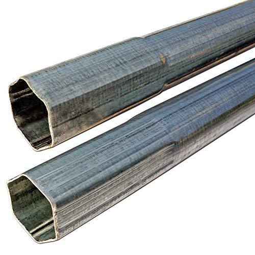 Steckmast Antennenmast Stahlrohr Halterung - Sat Mast/UKW Antenne/LTE Halterung/Konstruktionsbau/Befestigung Sonnensegel - 2X 1 m Mast, 190 cm gesteckt, 42 mm Rohr verzinkt, 2X Mastkappe