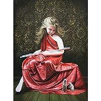 子供の手作りギフト40x50cmDIYフレームのフルセットキャンバス上の数字によるフィギュアペインティングの女の子の油絵