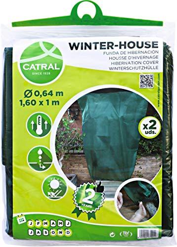 Catral 02010002 Pack 2 Fundas de Hibernación, Verde, 160 x
