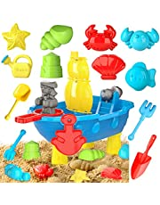 Lucky Doug 22PCS Beach Sand Toys Set for Kids Toddlers, Play Sand for Sandbox Outdoor Outside Summer Water Toy