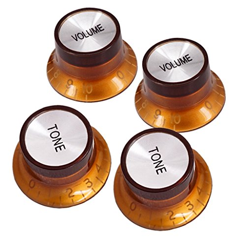 4 Stück Potiknopf Lautstärkeregler Volumen Knob für Fender St Sq Gitarre
