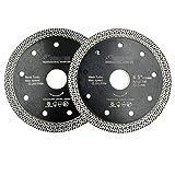 SHDIATOOL Disco Diamantato 2 Pezzi 115mm con Mesh Turbo per Porcellana Piastrella Ceramica...