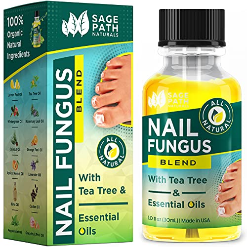 Toenail Fungus Treatment: Natural Tea Tree & Essential Oil Blend - Organic, Extra Strength Formula for Damaged & Discolored Toe Nails - Made in USA