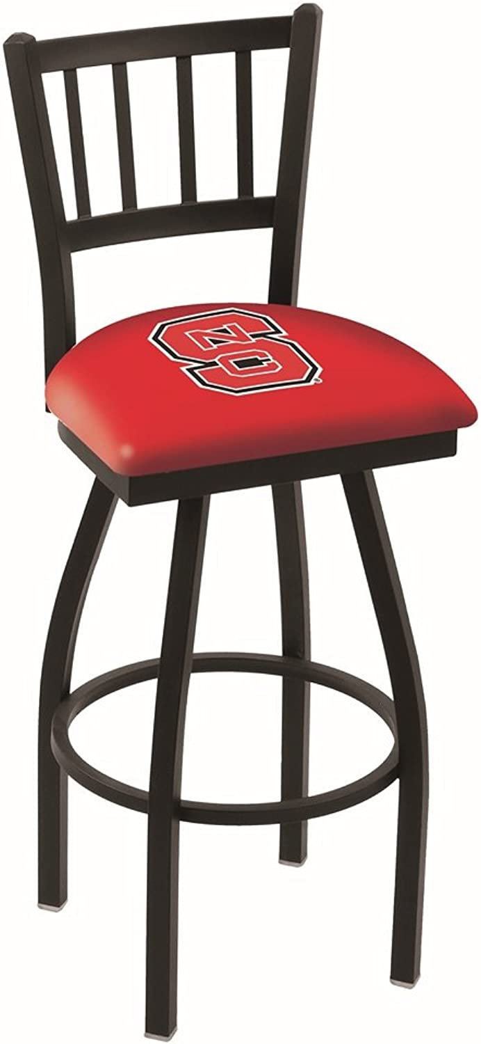 NC State Wolfpack HBS Red Jail Back High Top Swivel Bar Stool Seat Chair