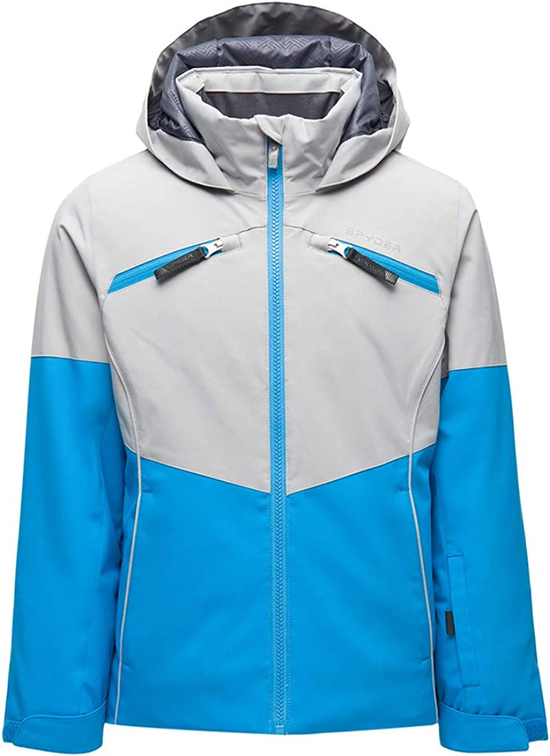 Spyder Girl's Conquer Ski Jacket – Hooded Discount mail order Zip Full C Fixed price for sale Kids Winter