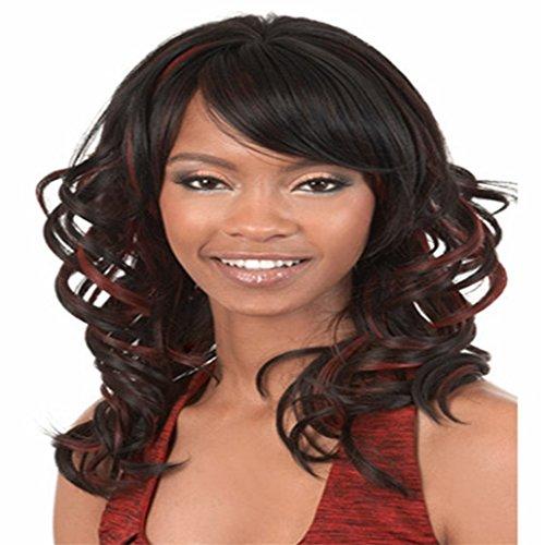 Longlove Long Kindly naturelle bouclés perruque Silky Perruque synthétique résistant à la chaleur Perruque pour femme