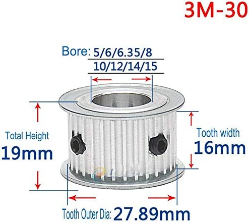 3M 30T Pitch Limited time for free shipping 3mm Tooth Topics on TV Width 16mm Pulley Belt Timing Synchronous