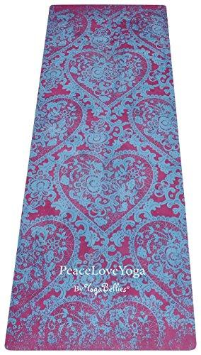 YogaBellies PeaceLoveYoga Mat Luxury, Women's, Natural Rubber, Pro Yoga Mat. Eco Friendly....