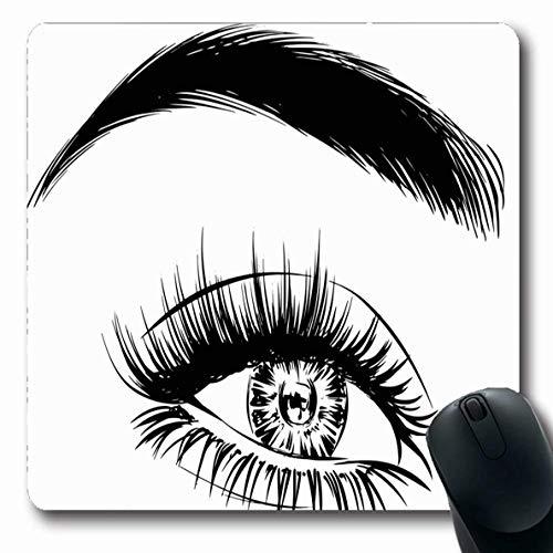 Luancrop Mauspads für Computer Kosmetik Augenbrauen Make-up Schwarz Sexy Pflege Nahaufnahme Eleganz...