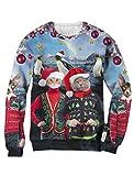 Green Turtle T-Shirts Jersey Navidad 3D Sudadera Unisex Navidad Small