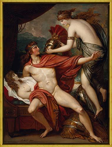 Marco Benjamin West Giclee Lienzo Impresión Pintura Póster Reproducción Print(Thetis llevando la Armadura a Aquiles)