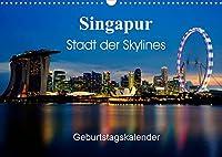 Singapur Stadt der Skylines (Wandkalender 2022 DIN A3 quer): Einzigartige Aufnahmen einer asiatischen Metropole (Geburtstagskalender, 14 Seiten )