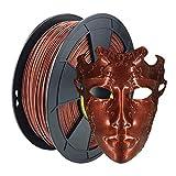 ZIRO PLA Glitter Filament 1.75mm,3D Printer Filament PLA-Diamond Series 1.75 1KG(2.2lbs), Dimensional Accuracy +/- 0.05mm,Diamond Red