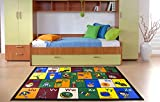 Ottomanson Jenny Collection educational rug, JNA370019-8X10, Multicolor
