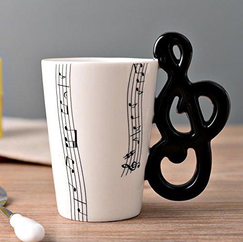 Taza de cerámica con música taza guitarra eléctrica instrumento musical taza de...